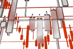 Glassy Forex Graphs Illustration Stock Image