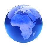 Glassy globe.Africa Royalty Free Stock Images