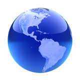 Glassy globe.America Royalty Free Stock Photo
