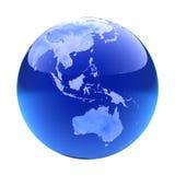 Glassy globe.Australia Stock Image