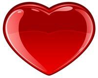 Glassy Heart Royalty Free Stock Photography