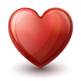 Glassy heart Royalty Free Stock Images