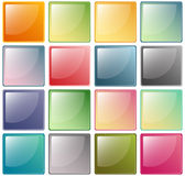 Glassy Icons stock photo