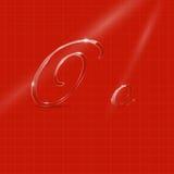Glassy Italic Letters Royalty Free Stock Photo