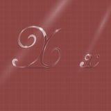 Glassy Letters in Italics Stock Photo