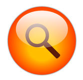 Glassy Red Search Icon Royalty Free Stock Images