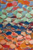 Glassy rippled background stock photo