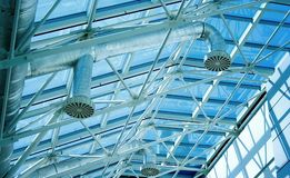 Glassy roof ventiduct Stock Images