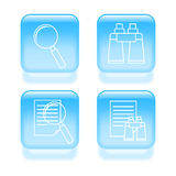 Glassy search icons Stock Photo