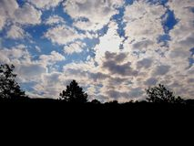 Glassy skies. Sky, blue, clouds, white, beautiful, sight, nature royalty free stock photos