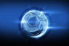 Glassy Soccer Ball Stock Photography