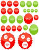 Glassy star price tags Royalty Free Stock Image