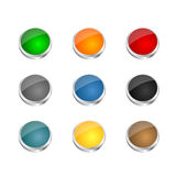 Glassy steal buttons Royalty Free Stock Images
