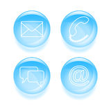 Glassy support icons Stock Image