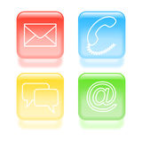 Glassy support icons Royalty Free Stock Image