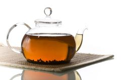 Glassy teapot Royalty Free Stock Images