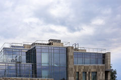 Glassy top of city high building Royalty Free Stock Photos