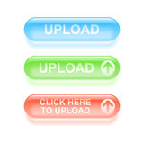 Glassy upload buttons. Stock Image