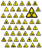 Glassy warning signs - vector Stock Photo
