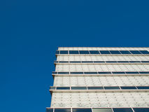 Glassy white facade. Royalty Free Stock Photo