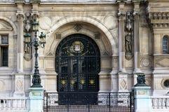 Glastür - Hotel de Ville lizenzfreies stockfoto