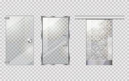 Glastür Sammlung Auf Transparentem Hintergrund Stockfoto