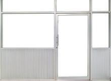 Glastür- und Fensterbüroraum stockfotos