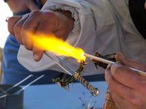 glastillverkning Royaltyfri Fotografi