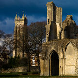 glastonbury的修道院 图库摄影