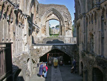 glastonbury的修道院 库存图片