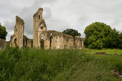glastonbury abbey Royaltyfri Bild