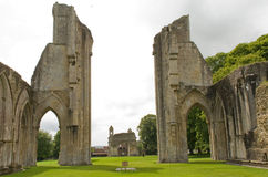 glastonbury abbey Royaltyfria Bilder