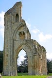 Glastonbury Abbey. Ruins of Glastonbury Abbey in Glastonbury, England royalty free stock photo