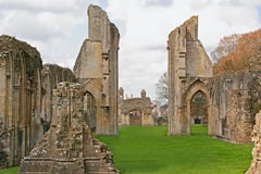 Glastonbury Abbey. Ruins of Glastonbury Abbey in Glastonbury, England stock images