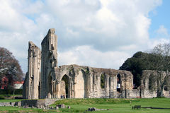 Glastonbury Abbey. Ruins of Glastonbury Abbey in Glastonbury, England royalty free stock images