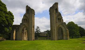 Glastonbury Abbey Ruin Lizenzfreies Stockfoto