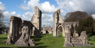Glastonbury Abbey Ruins Stock Images