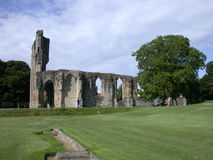 Glastonbury abbey in somerset. Ruins of Glastonbury Abbey located in Somerset England Royalty Free Stock Photography