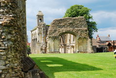Glastonbury abbey, Somerset, England Arkivfoton