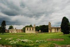 Glastonbury abbey, Somerset, England. The ruins of Glastonbury abbey, Somerset, England, UK Royalty Free Stock Images