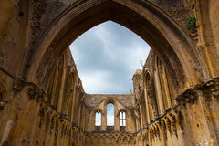 Glastonbury Abbey was a monastery from 7th century in Glastonbur Stock Photo
