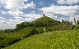Glastonbury Felsen stockfoto
