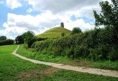 Glastonbury-Felsen Stockbild