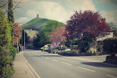 Glastonbury Felsen Lizenzfreies Stockbild
