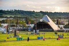 Glastonbury festival 2015 Royaltyfri Foto