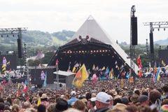 Glastonbury festival av konsterna Arkivfoton
