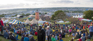 Glastonbury Festival Site Royalty Free Stock Photos