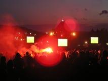 Glastonbury-Festivalhauptphase 2004 Stockfoto