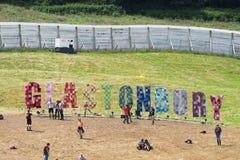 Glastonbury festiwal sztuki Obrazy Stock