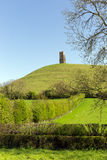 Glastonbury hill Somerset England Royalty Free Stock Images